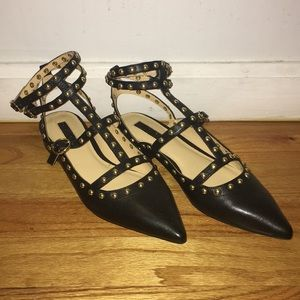 topshop kate studded pointed toe flats